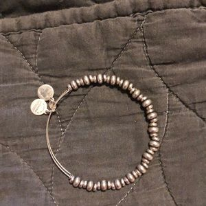 Alex and Ani silver bead bracelet